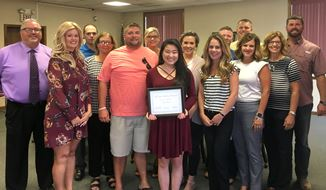 Yang is 2018 Chamber of Commerce Scholarship Winner