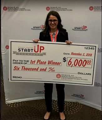 Land of Lincoln CEO Alumna Emma Schoth takes 1st place at ISU Startup Showcase with Drake's Toys