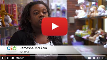 Jamesha McClain gives a testimonial about CEO